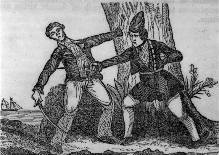 Picture Of Female Pirate Mary Read Killing Her Antagonist
